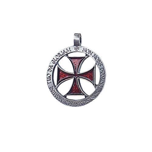 LGP - Colgante Cruz Templaria Esmaltada, Doble Cara.