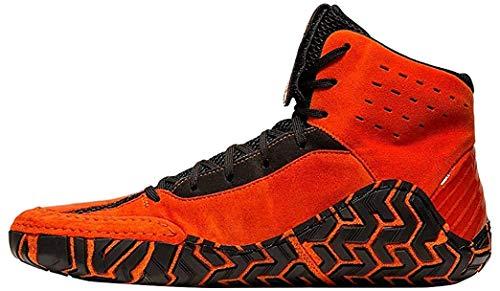 ASICS Men's Aggressor 4 Wrestling Shoes, 9.5M, KOI/Black