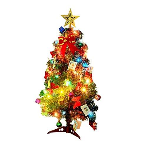 Hzdmfgs Christmas Tree 30/45/60cm DIY Christmas Tree Small Artificial Christmas Tree Fake Pine Ornaments Glittering Christmas Trees Set (Color : D)
