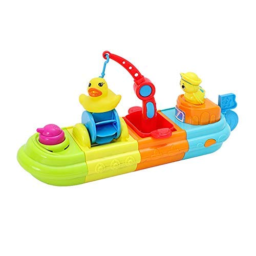 TYUXINSD Lovely Juguetes Baby Bath Juguete Juego DIY Dibujos Animados Animal Pato Barco de Agua Pulverización Ducha Piscina Kid Play Toys Diversión Niños Baño Baño Juguete (Color: Multicolor)