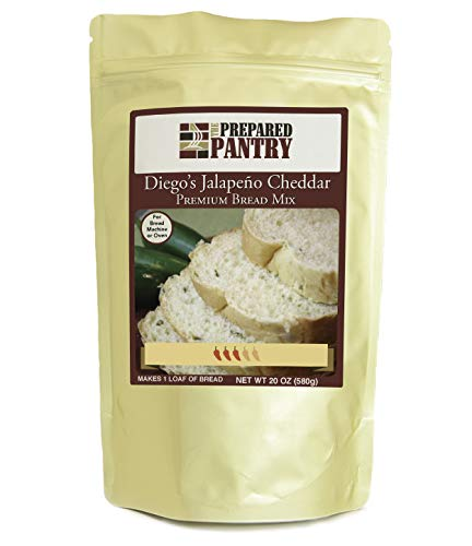 The Prepared Pantry Diego's Jalapeno Cheese Bread Mix; Single Pack; For Bread Machine or Oven