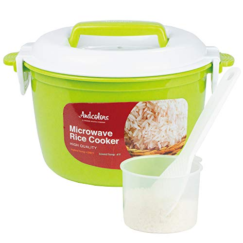 Andcolors Microwave Rice Cooker Steamer