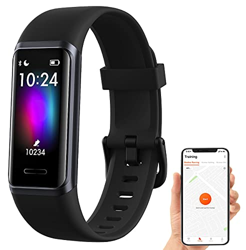 Newgen Medicals Pulsuhr: Fitness-Armband mit Touch, Herzfrequenz, SpO2, App, Alexa, IP68 (Armbanduhr)