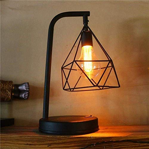 YANQING duurzame creatieve, glanzende, minimalistische, handgemaakte, ijzeren LED-bureaulamp, LED-nachtlampje met uitgehold ontwerp, Iron Made Lamp Body voor slaapkamer, decoratie, vriendin, vriendinnetje oplichten leven