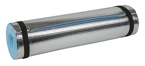 Idena 38193 - Isomatte mit Aluminiumbeschichtung, ca. 50 x 180 cm, ca. 7 mm dick, wärmeisolierend, kompakt und leicht, ideal für Yoga, Sport, Camping, Festivals oder am Strand