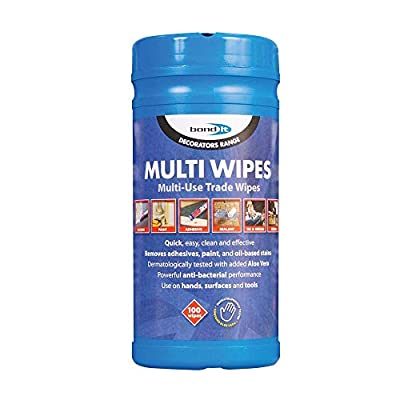 Bond-It MULTI-WIBond-it Multiwipes 1 tub of 300 large sheet wipes These sanitising hand wipes offer protection against MRSA and other bacteria - great to wash hands when no water is around. by Unknown