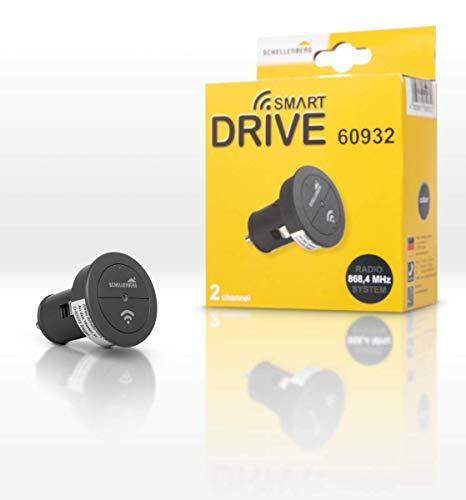 Schellenberg 60932 Garagentor Fernbedienung Funk-Autosender Smart DRIVE, 2-Kanal, 868,4 MHz, Tor aus dem Auto öffnen