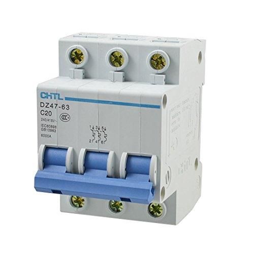 Protección contra sobrecarga tripolar de los interruptores automáticos 3P 240 / 415V 20A