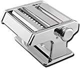 Máquina de fideos de acero inoxidable 6 niveles de ajuste de espesor para fideos de lasaña espaguetis frescos macarrones Lasaña cortador de masa