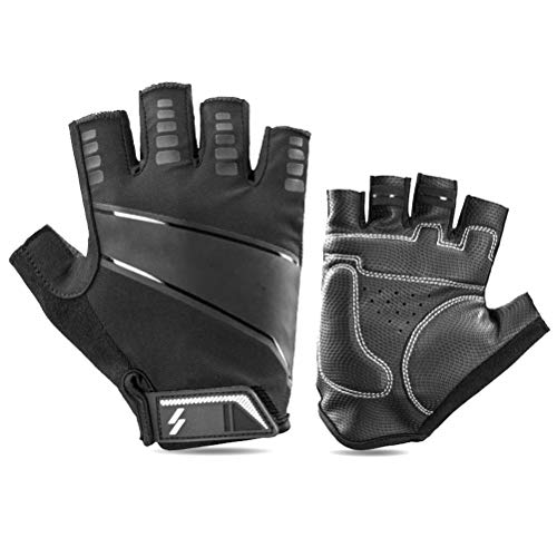 Hihey Fahrradhandschuhe-Fingerlose Atmungsaktive MTB Handschuhe - Halbfinger Radhandschuhe Herren&Damen für Fahrrad Motorrad
