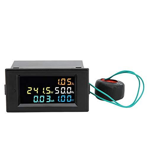 Multimeter, AC-LED-Anzeige Digitaler Strom-Spannungs-Leistungsmesser-Monitor, Volt-Ampere-Ah-Leistung, SPM003(AC80.0‑300.00V)