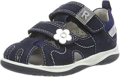 Richter Kinderschuhe Mädchen Babel Geschlossene Sandalen, Blau (Atlantic/Silver 7202), 24 EU