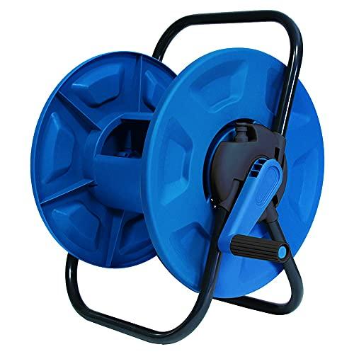 AQUA CONTROL C2096 Chariot Porte-tuyaux. Dévidoir pour Tuyau de 12 ou 15 mm. Fabriqué en métal zingué et Plastique résistant, Argent