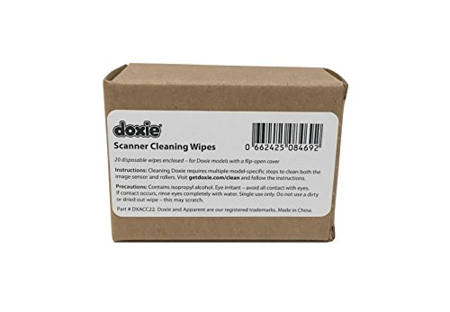 Doxie Scanner Cleaning Wipes (20 Pack) (for All flip-Open Models)