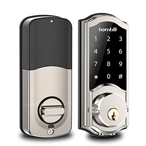 [2020 Newest Version] Smart Deadbolt Lock Front Door, Keyless Entry Door Lock with Keypads, Bluetooth Smart Locks Work with Alexa, Digital Code Lock for Airbnb and Vacation Rental Hosts