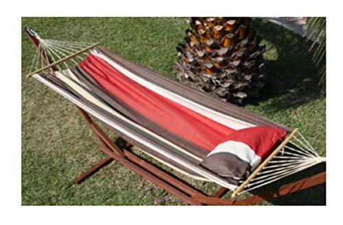 export sal hangmat Paradise lengte 295 cm van katoen met spreidstok zonder frame