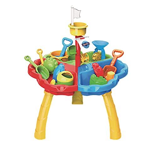 sdfsa Juguetes de Playa Set Playa Arena Agua Play Actividad Tabla Juguetes Playa Pala Herramientas Kit ecológico Sandbox Toys Play Kit de Arena para niños Juguetes de Playa de Verano