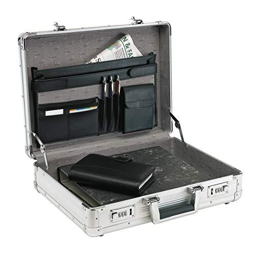 Alu Aktenkoffer Alukoffer Aluminium Schutzkanten Koffer Silber 45 cm bei Bowatex
