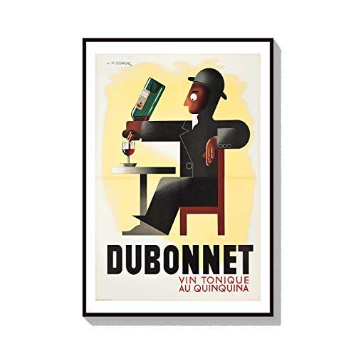 Parijs Muur Kunst Franse Cognac Wijn Poster Dubonnet Liquor Decor Pub Art Print Alcohol Poster Café Decor Café Print AM Cassandre