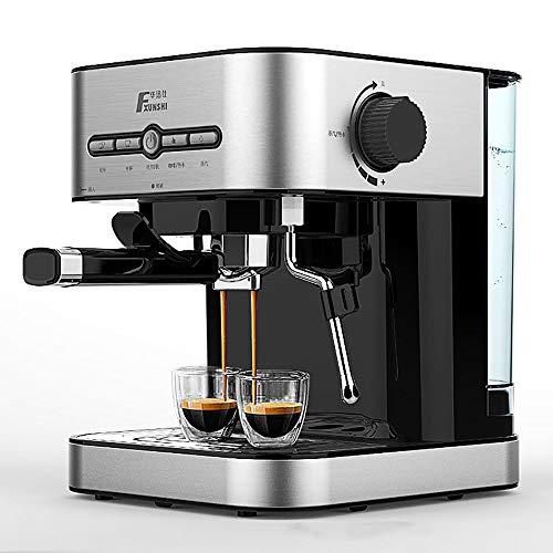 LNTE Kaffeemaschine, Dampfdruck Filterkaffeemaschine, halbautomatische Haushaltsbüro-Kaffee-Kaffeemaschine 1.4L