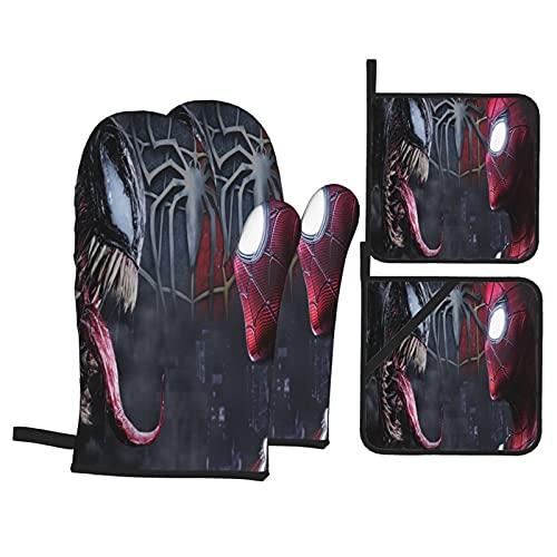 Spiderman Mini mitones de horno Microondas Pot...