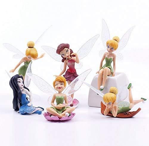 BESLIME Estatuas en Miniatura, 6 Juegos de Mini Decoraciones de jardín, estatuas de paisajes en Miniatura de Bricolaje, utilizadas para la decoración de Pasteles de cumpleaños Familiares
