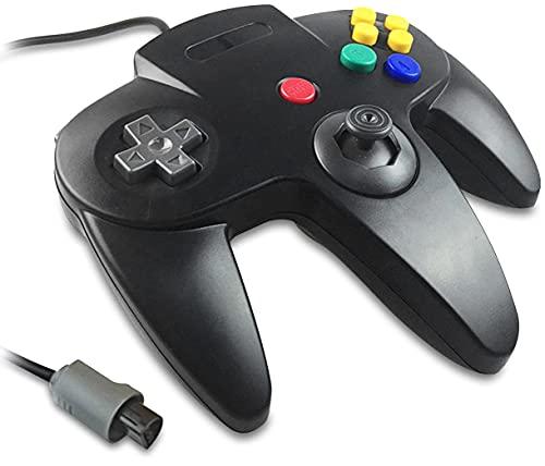 Eaxus® Controller für N64 - Gamepad für Nintendo 64 Konsole, Schwarz