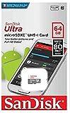 SanDisk Ultra - Tarjeta de memoria , Android microSDHC de 16 GB + adaptador SD con hasta 80 MB/s y Class 10