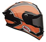 Bell Star Full-Face Motorcycle Helmet (Pace Orange/Black, Small)