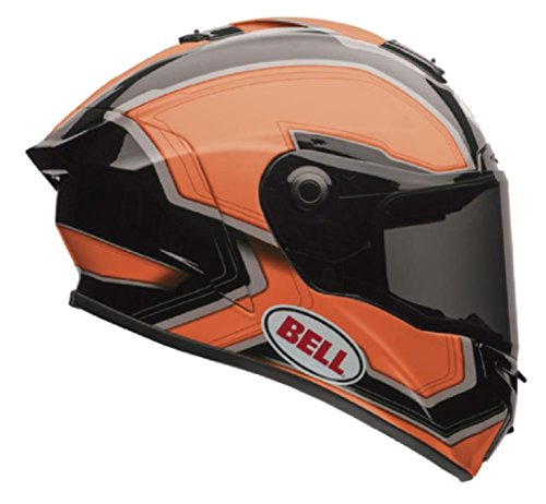 Bell Star Full-Face Motorcycle Helmet (Pace Orange/Black, Small)
