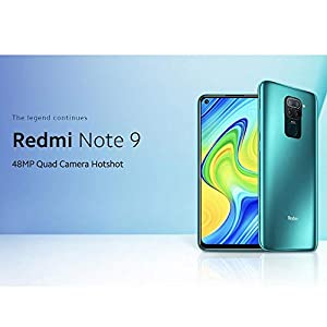 "Xiaomi Redmi Note 9 - Smartphone de 6.53"" FHD (DotDisplay, 4 GB RAM, 128 GB ROM, cámara Quad de 48 MP, Hotshot 3.5 mm, Headphone Jack, batería de 5020 mAh) Midnight Grey [International Version]"