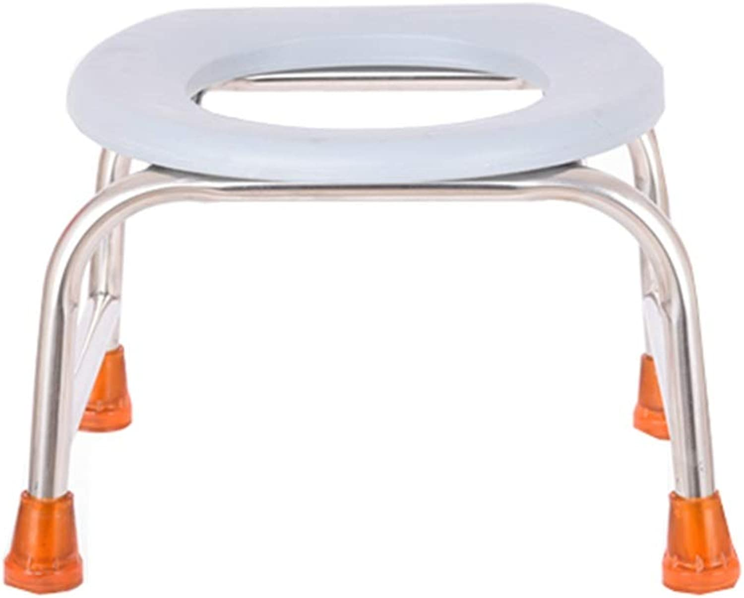 XSJZ Toilet Stool, Stainless Steel Can Adjust The Toilet Seat Toilet Seat and Frame (color   A)