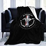 AENDers Ultra-Soft Micro Fleece Blanket Throw Super Soft Hypoallergenic Plush Bed Couch Living Room Mustang Gt Logo