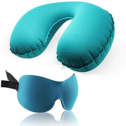 JIGUANG Flower Pot Rack Sleep Mask Alaska Bear Sleep Mask Travel Set Inflatable Pillow Sleep Eye Mask Outdoor Portable Travel Supplies Inflatable Pillowcase Earplugs Eye mask (Color : B),Colour:A