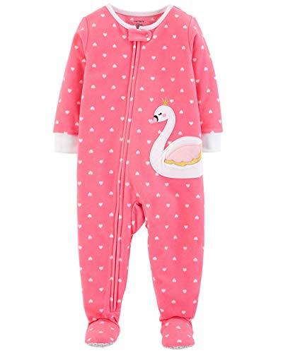 Carter's pyjama fleece 86/92 eendelig meisje meisje meisje meisje warm zacht winter ritssluiting US size 2 t huispak rompers