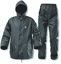 Rain Suits for Men Waterproof Heavy Duty Durable Workwear 3 pieces Rain Coat Jacket and Pants for Cycling Biking Farming(Dark Green, Large)