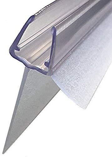 2x100cm Sealis Ersatz Duschdichtung mit verlängertem Dichtkeder 25mm - Dichtung für 5mm/ 6mm/ 7mm/ 8mm Glasdicke Duschkabine Wasserabweiser Duschdichtung Schwallschutz - Transparent