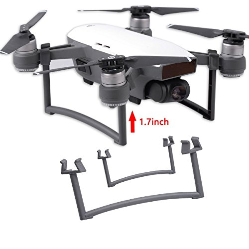 Aboom Dji Spark Landing Gear Legs Height Extender Stabilizers, Add Extra Clearance Keeps the Gimbal Away from Grass or Gravel