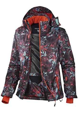 Crivit® Damen Skijacke Winterjacke Wintersport Mehrfarbig Alloverprint 42