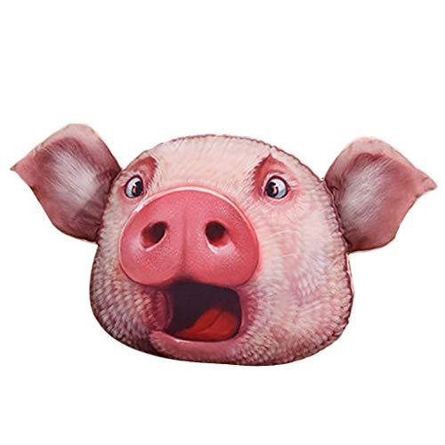 Serria® Kuscheltier Schwein Plüsch Kissen 3D Druck Cartoon Kissen Hochwertige PP Baumwolle Kinder Puppe Geschenk 38x30cm