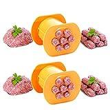 AKlamater Molde para perros calientes moldes de salchichas de silicona de grado alimenticio bandejas de perro caliente para hornear jamón salchichas moldes de cocina DIY(2 naranjas)
