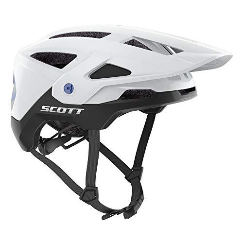 Scott Stego Plus MTB Bicycle Helmet White/Blue 2021: Size: M (55-59cm)
