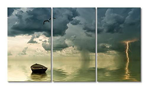 WandbilderXXL Stampato su Tela Lonely Boat 180x 100cm–in 6Diverse Misure. preparata su Telaio in Legno. Economici Stampe su Tela per Camera da Letto.