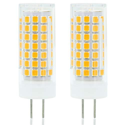 ZOZO Bombillas LED G6.35 6W Blanco Cálido 3000K Equivalentes a Lámparas G6.35 GY6.35 Halógenas de 75W 690LM AC 90-265V (2 piezas)