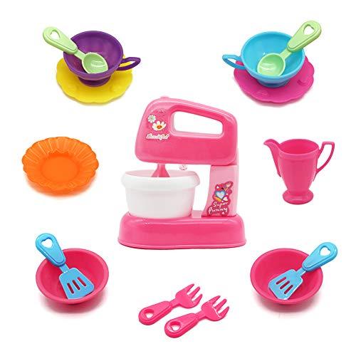 Symiu Pentoline Giocattolo Cucina Giocattolo per Bambini Frullatore con Accessori 16 Pezzo Regali Natale per Bambin 3 4 5