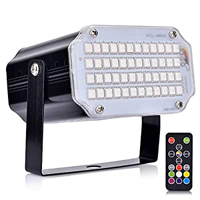 Mini LED Strobe Light, Hisome Flash Party Stage Sound Activated Lamps, 48 RGB Speed Control Lights for DJ Disco Clubs Birthday Wedding Dance Parties, Xmas