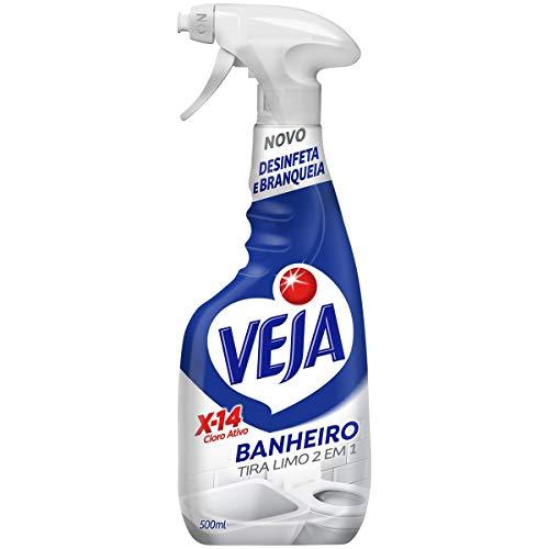Limpador Spray Banheiro X14 Tira Limo 500 Ml, Veja