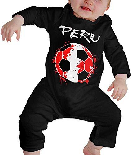 WlQshop Mono para Bebé,Mameluco Bebé Unisex Peru Football Soccer Newborn Kids Long Sleeve Baby Girls Assorted Short Sleeve Bodies