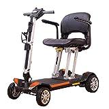 YQTXDS Patinete de Movilidad de 4 Ruedas - Patinete motorizado Compacto portátil Aprobado por la aerolínea Plegable 44Lbs Ligero (Silla de Ruedas)