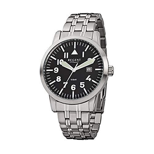 Regent signore orologio da polso in acciaio inox 1750.42.96F778